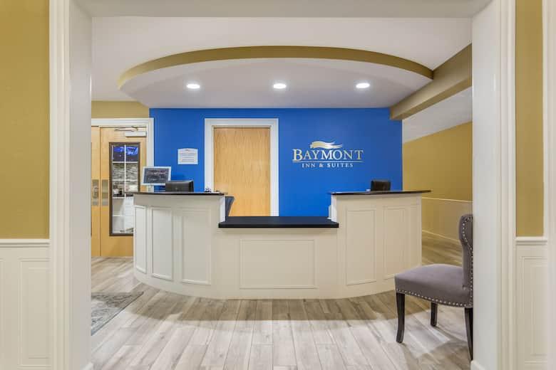 Baymont by Wyndham Spokane Valley hotel lobby in Spokane Valley, Washington
