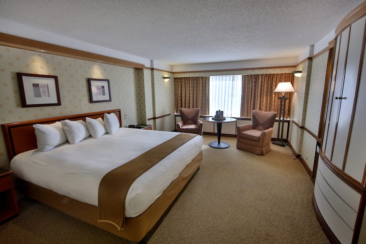 Guest room at the Bally's Atlantic City in Atlantic City, New Jersey
