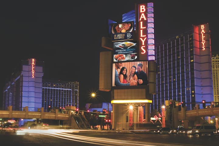 Exterior of Bally's Las Vegas hotel in Las Vegas, Nevada