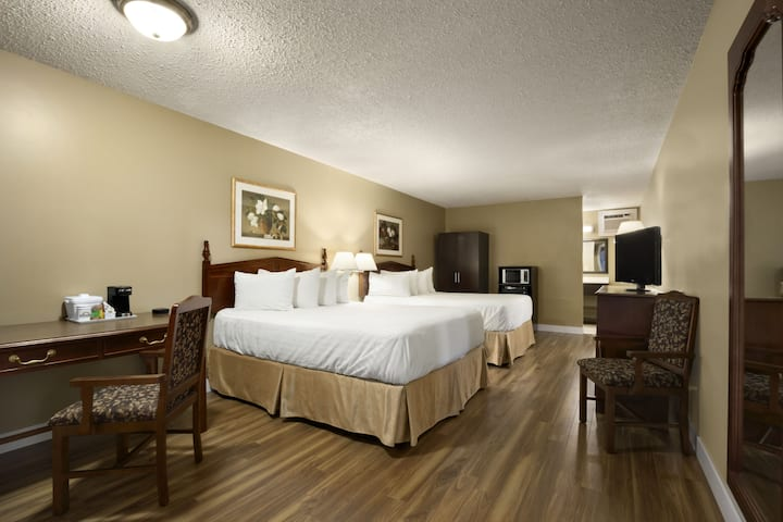 Guest room at the Days Inn Vernon in Vernon, British Columbia