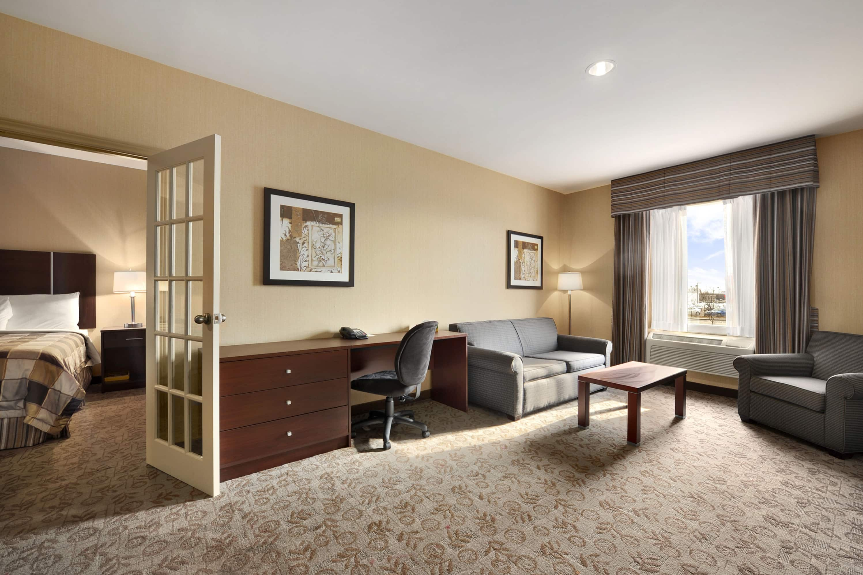 Guest room at the Days Inn Brampton in Brampton, Ontario