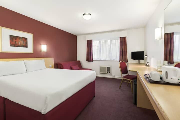 Guest room at the Days Inn London Stansted Airport in Bishops Stortford, Other than US/Canada