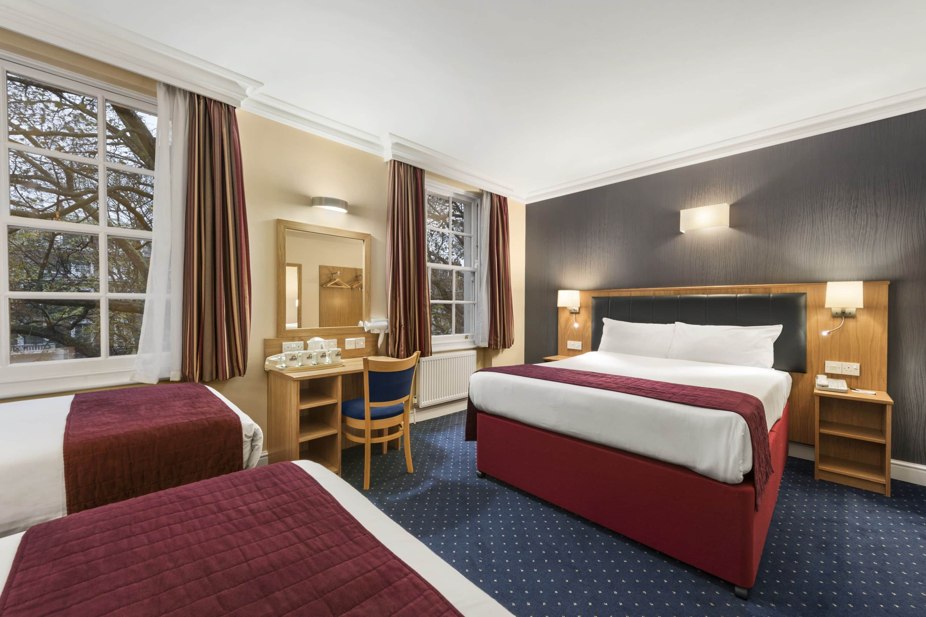 Guest room at the Days Inn London Hyde Park in London, Other than US/Canada