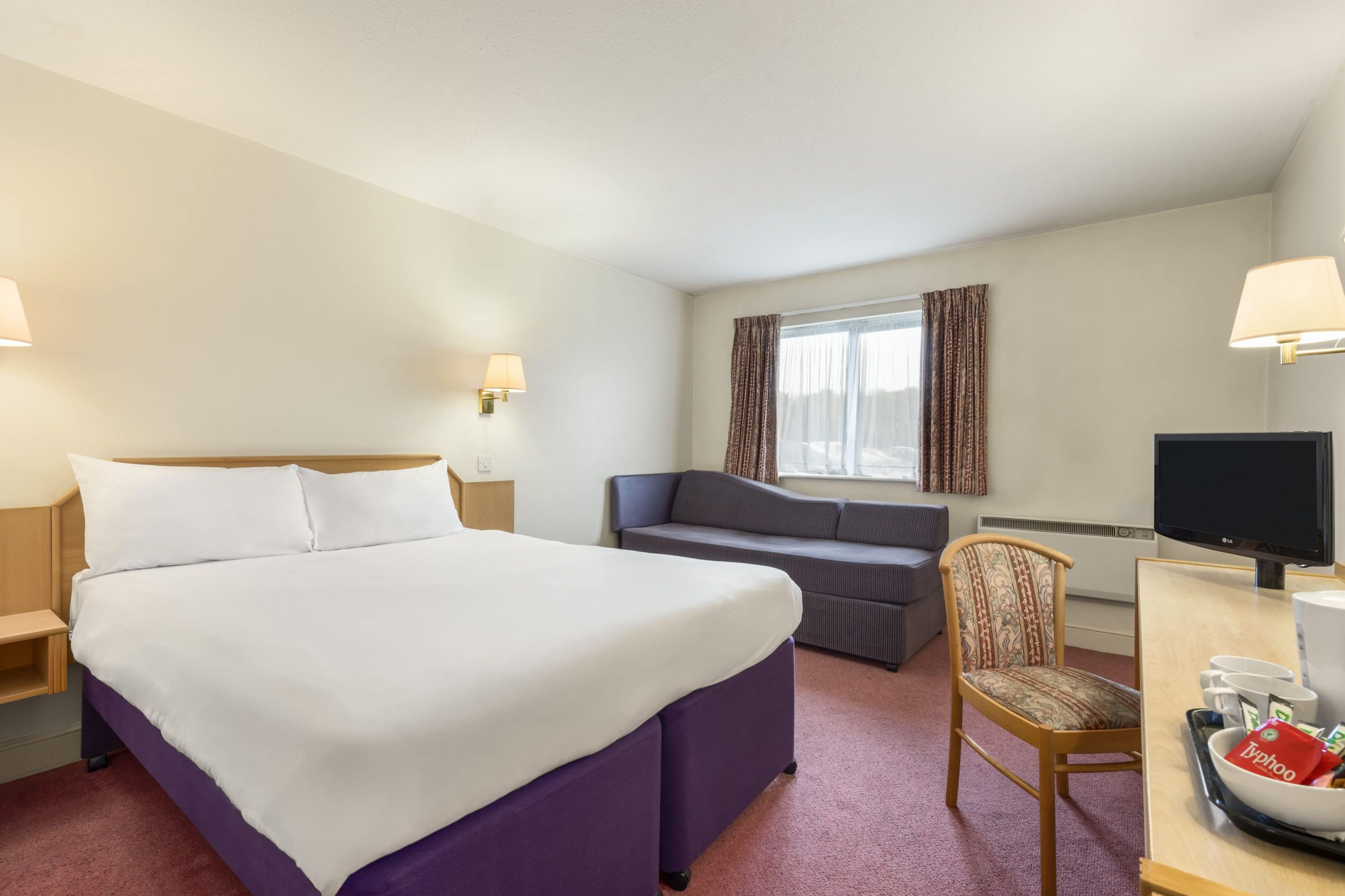 Guest room at the Days Inn Chesterfield Tibshelf in Tibshelf, Other than US/Canada