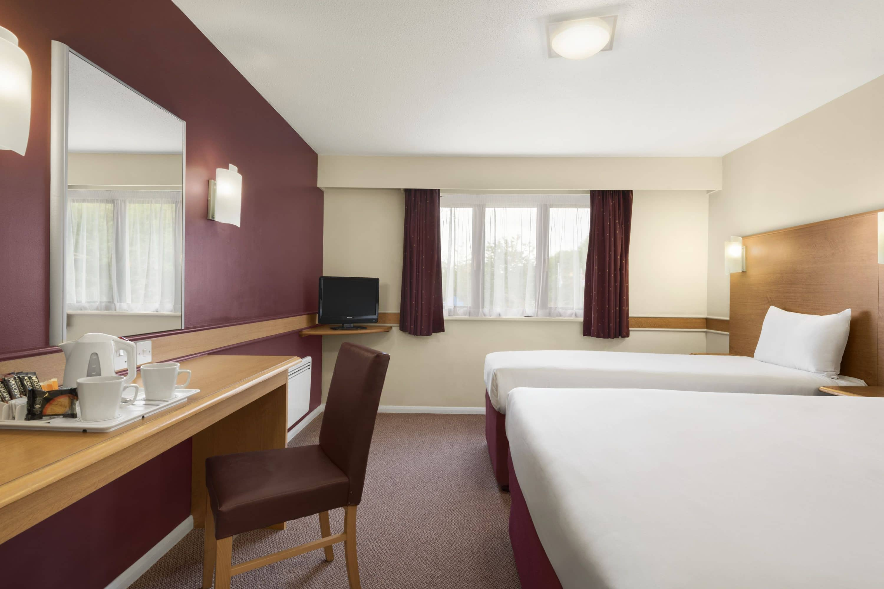 Guest room at the Days Inn Warwick North M40 in Warwickshire, Other than US/Canada