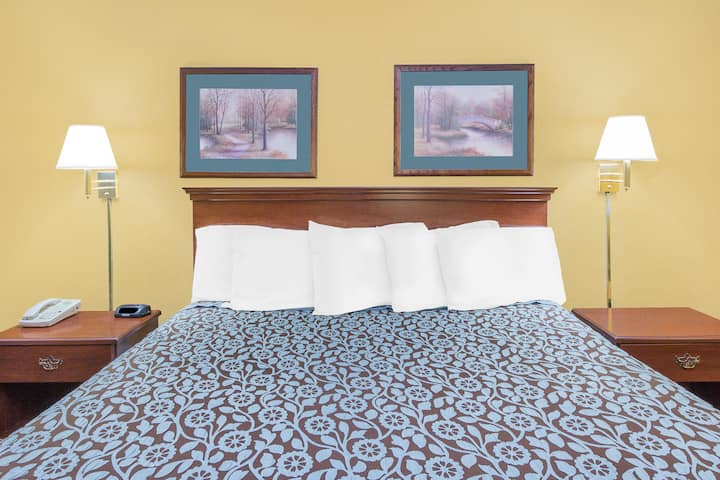 Guest room at the Days Inn N Little Rock East in North Little Rock, Arkansas