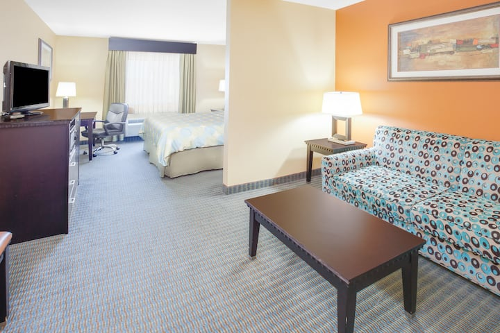 Guest room at the Days Inn & Suites Russellville in Russellville, Arkansas
