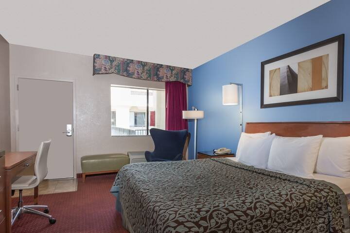 Guest room at the Days Inn & Suites Mesa in Mesa, Arizona