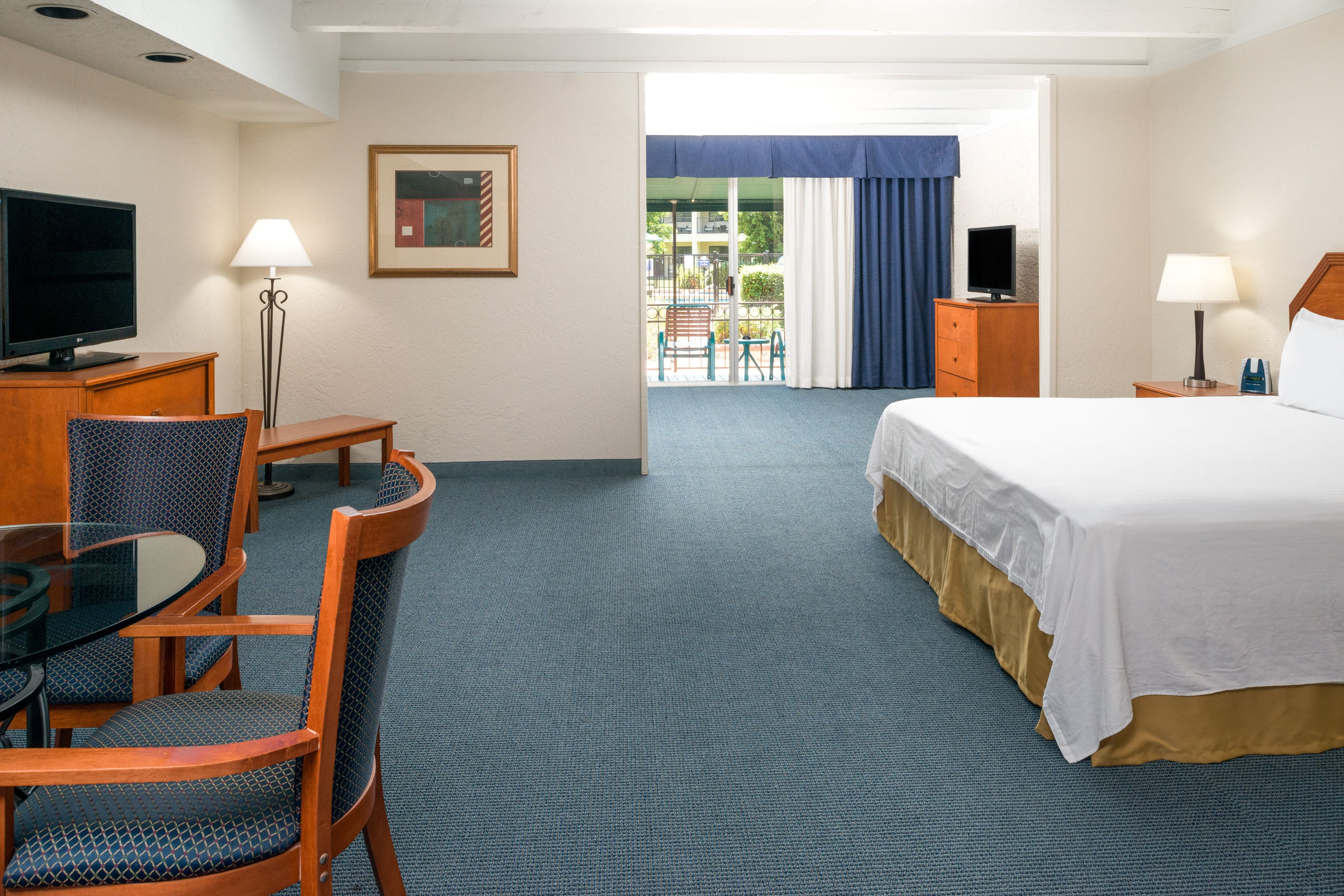 Guest room at the Days Inn & Suites Scottsdale North in Scottsdale, Arizona