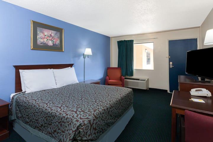 Guest room at the Days Inn Anaheim Near Convention Center in Anaheim, California