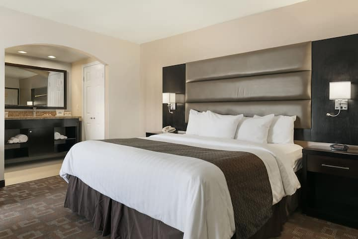 Guest room at the Days Inn Downey in Downey, California