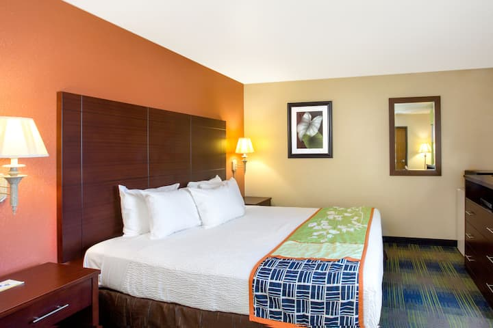 Guest room at the Days Inn Fremont in Fremont, California
