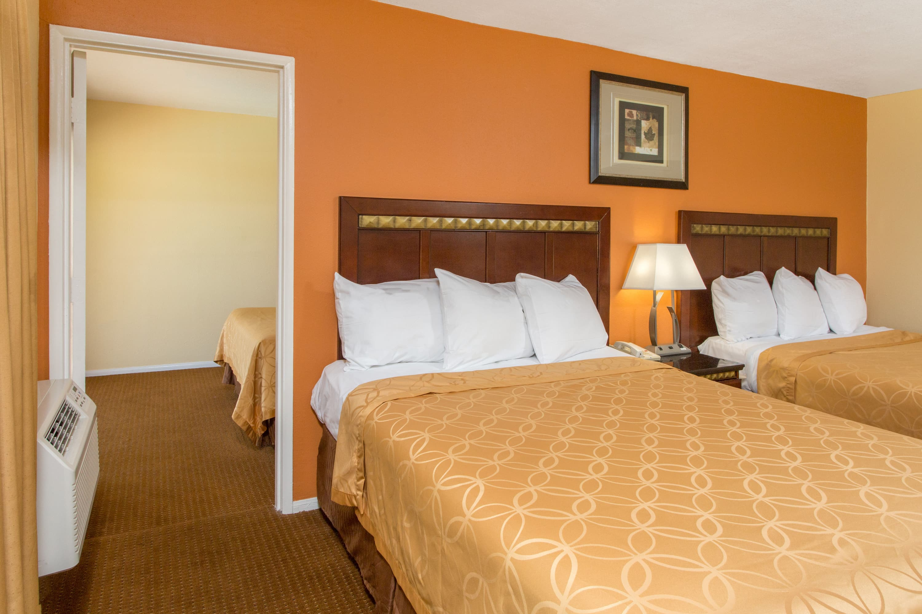 Guest room at the Days Inn Palm Springs in Palm Springs, California