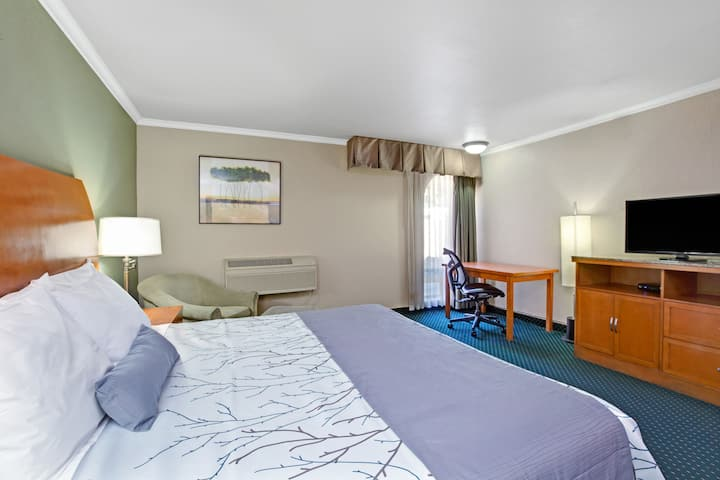 Guest room at the Days Inn San Jose Convention Center in San Jose, California