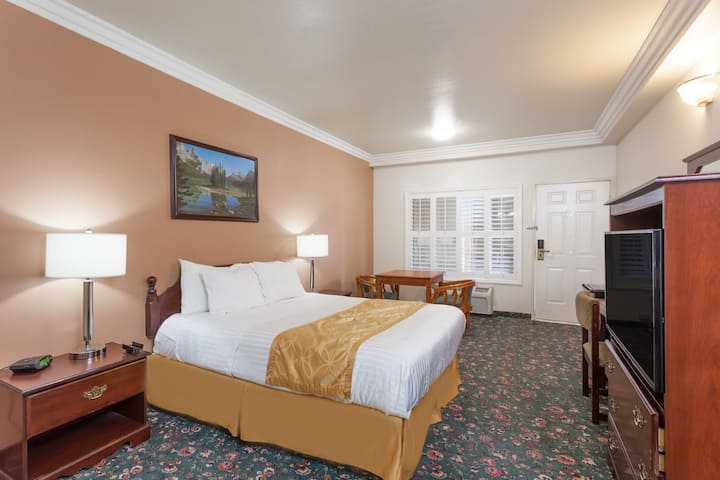 Guest room at the Days Inn & Suites South Gate in South Gate, California