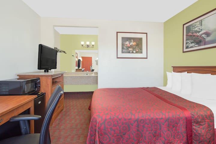 Guest room at the Days Inn Turlock in Turlock, California