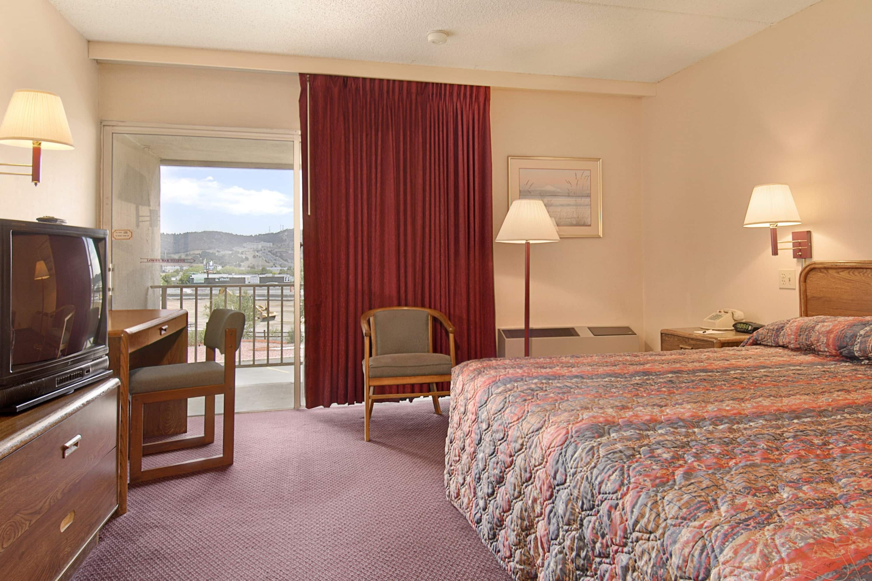 Guest room at the Days Inn Colorado Springs/Garden of the Gods in Colorado Springs, Colorado
