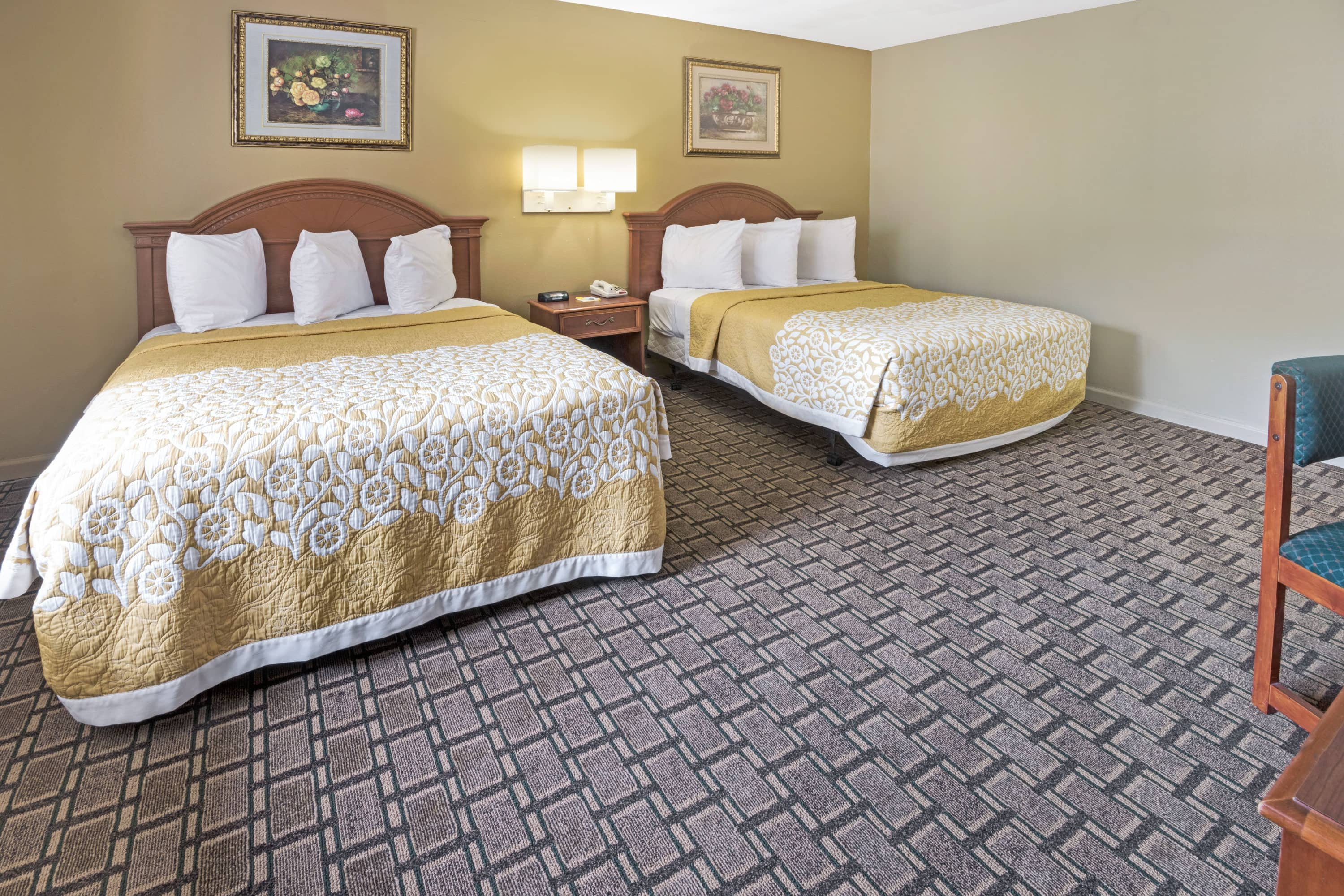 Guest room at the Days Inn Conference Center Branford New Haven in Branford, Connecticut