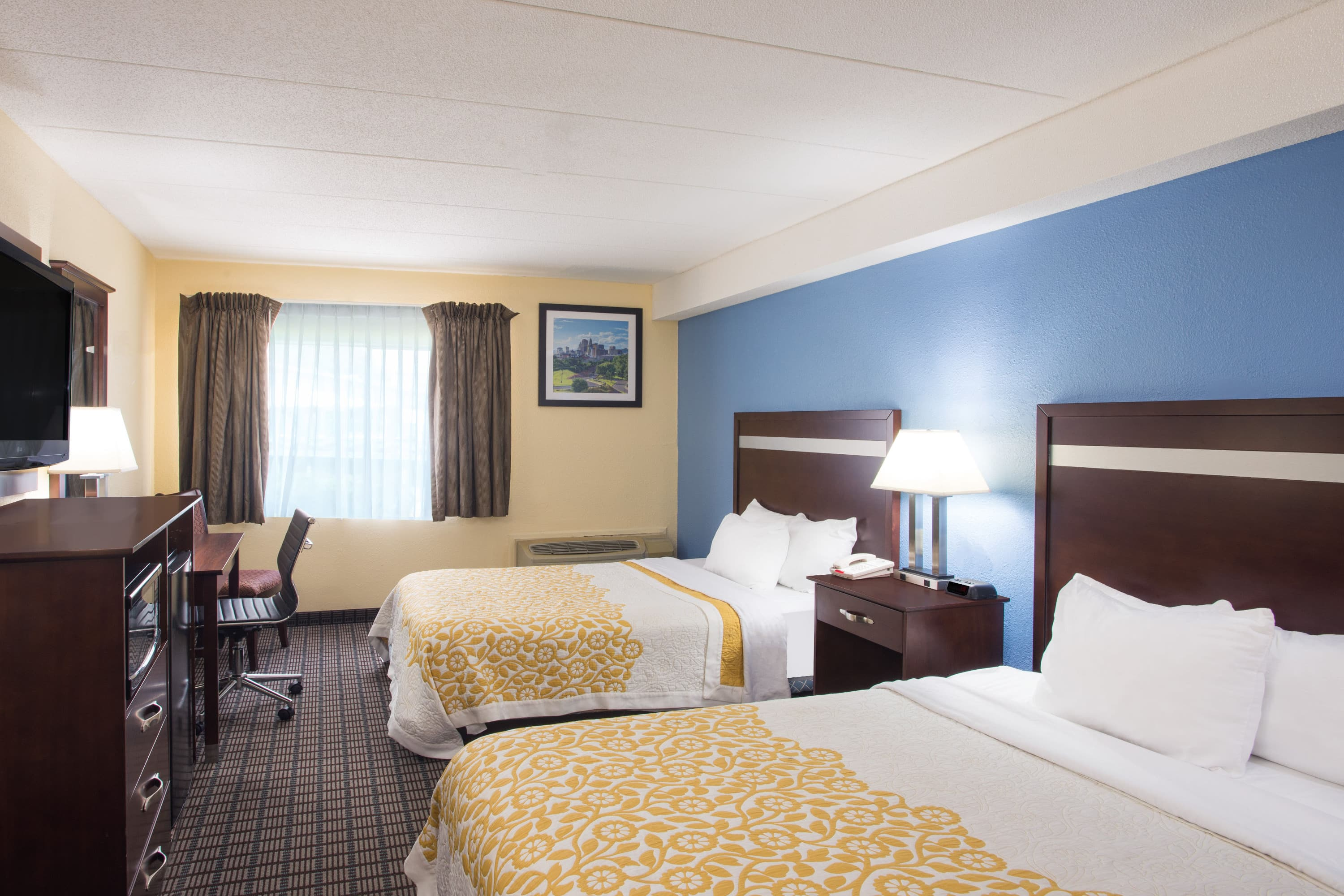 Guest room at the Days Inn New Haven in New Haven, Connecticut