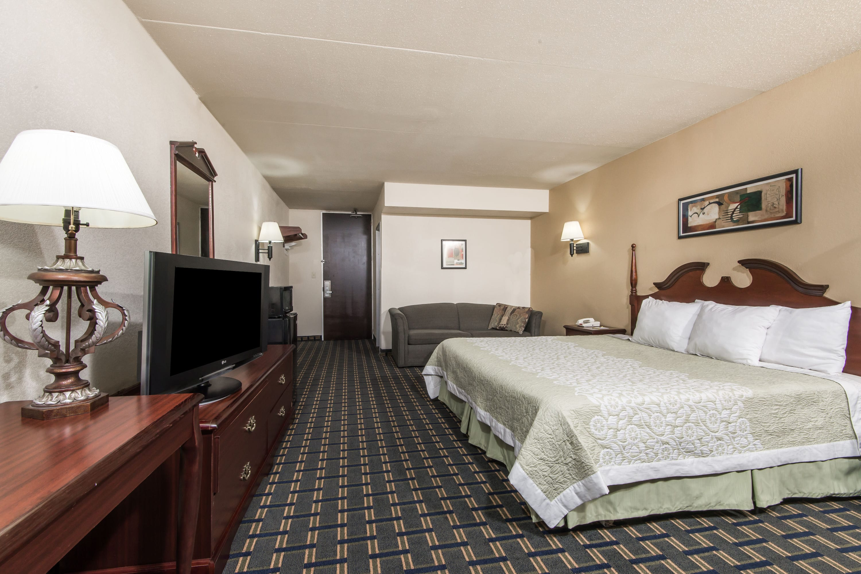 Guest room at the Days Inn Vernon in Vernon, Connecticut