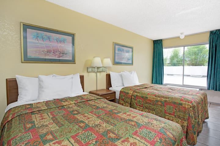 Guest room at the Days Inn Cocoa Cruiseport West At I-95/524 in Cocoa, Florida