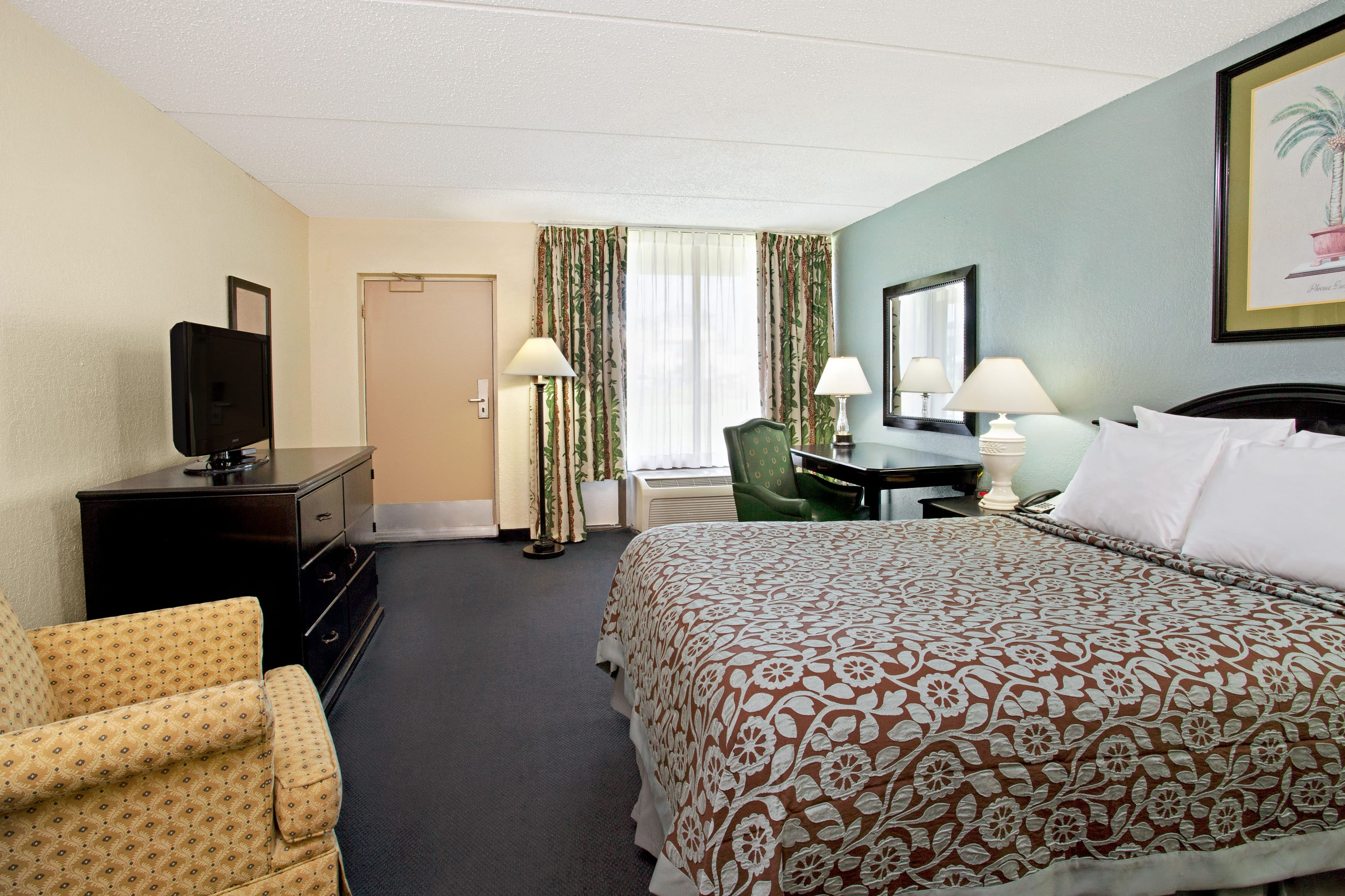 Guest room at the Days Inn Orlando Airport Florida Mall in Orlando, Florida
