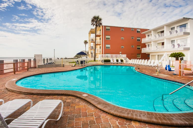 Pool At The Days Inn Ormond Beach Mainsail Oceanfront In Florida