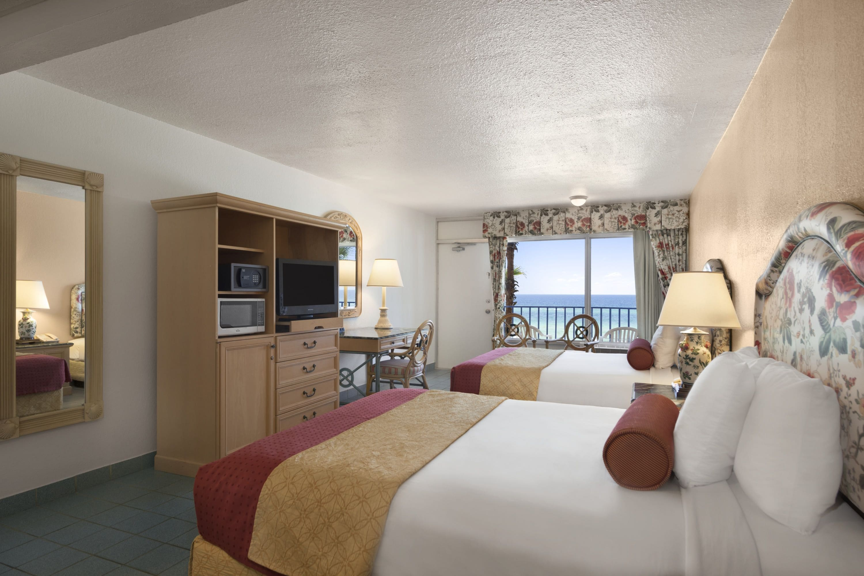 Guest room at the Days Inn Panama City Beach/Ocean Front in Panama City Beach, Florida