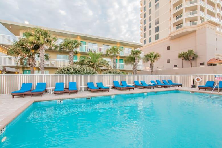 Pool At The Days Inn Pensacola Beachfront In Beach Florida