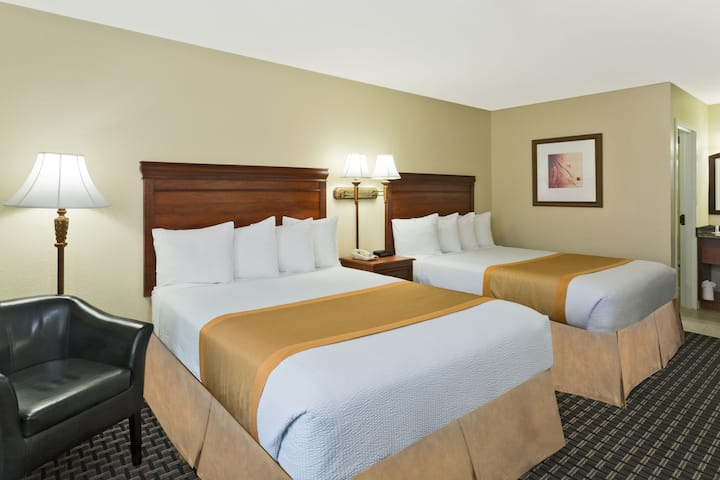 Guest room at the Days Inn Port Charlotte in Port Charlotte, Florida