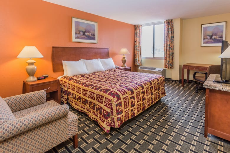 Guest Room At The Danville Days Hotel Conference Center In Illinois