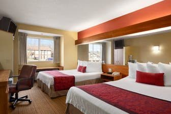 Guest room at the Days Inn & Suites Lafayette IN in Lafayette, Indiana