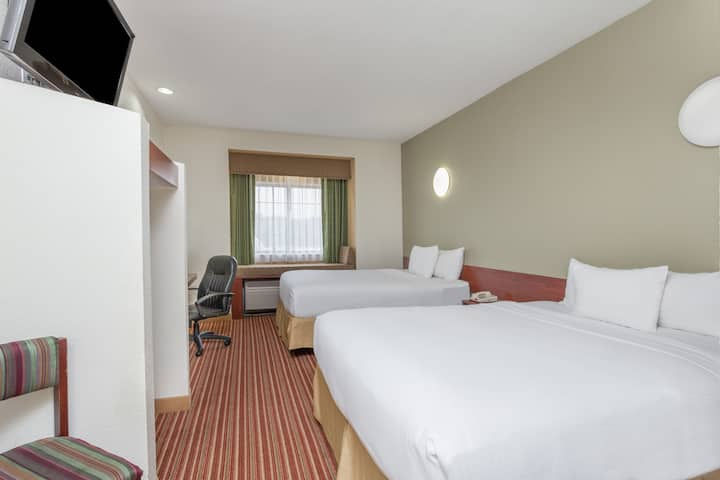 Guest room at the Days Inn - near Kansas Speedway in Kansas City, Kansas