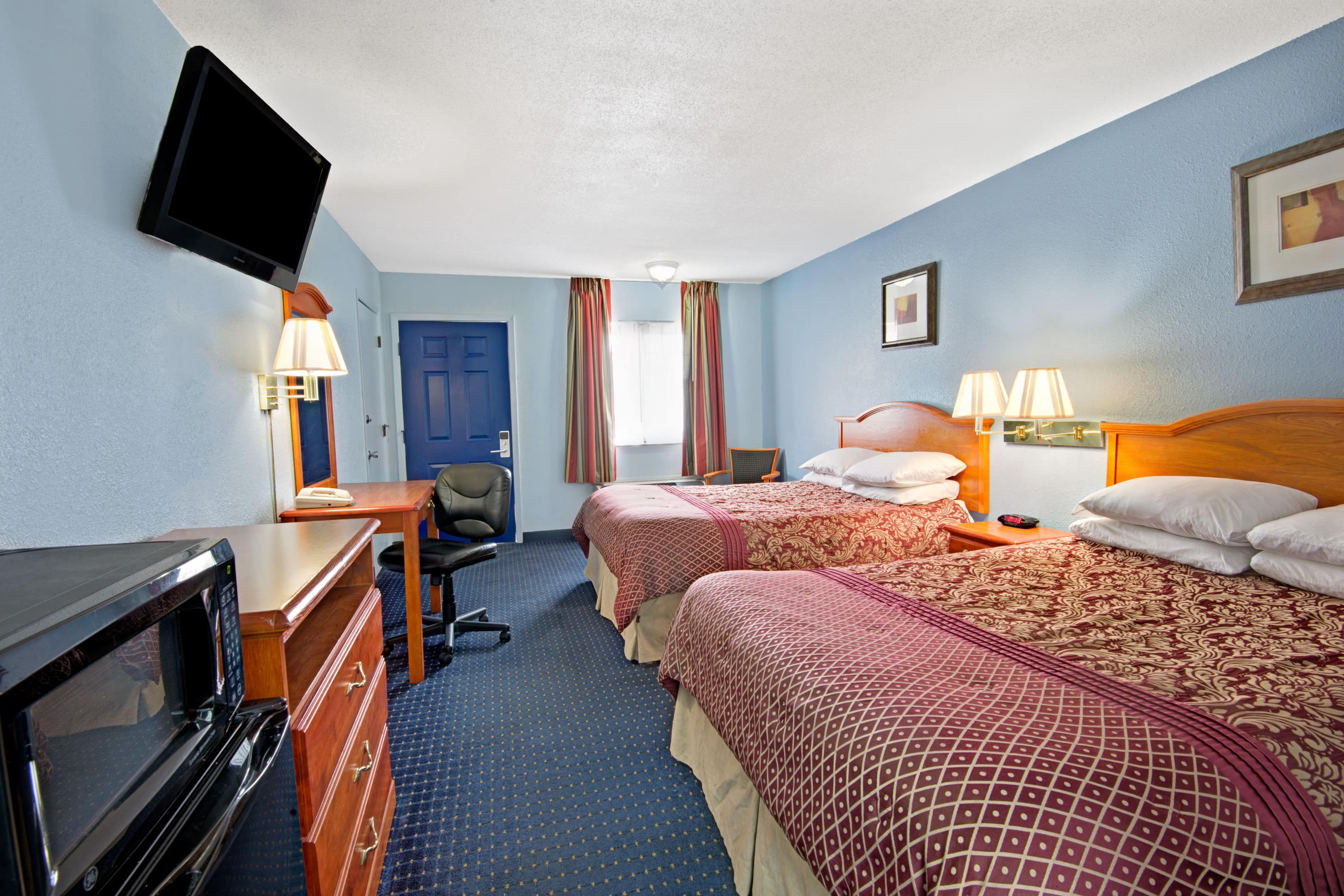 Guest room at the Days Inn KU Lawrence in Lawrence, Kansas