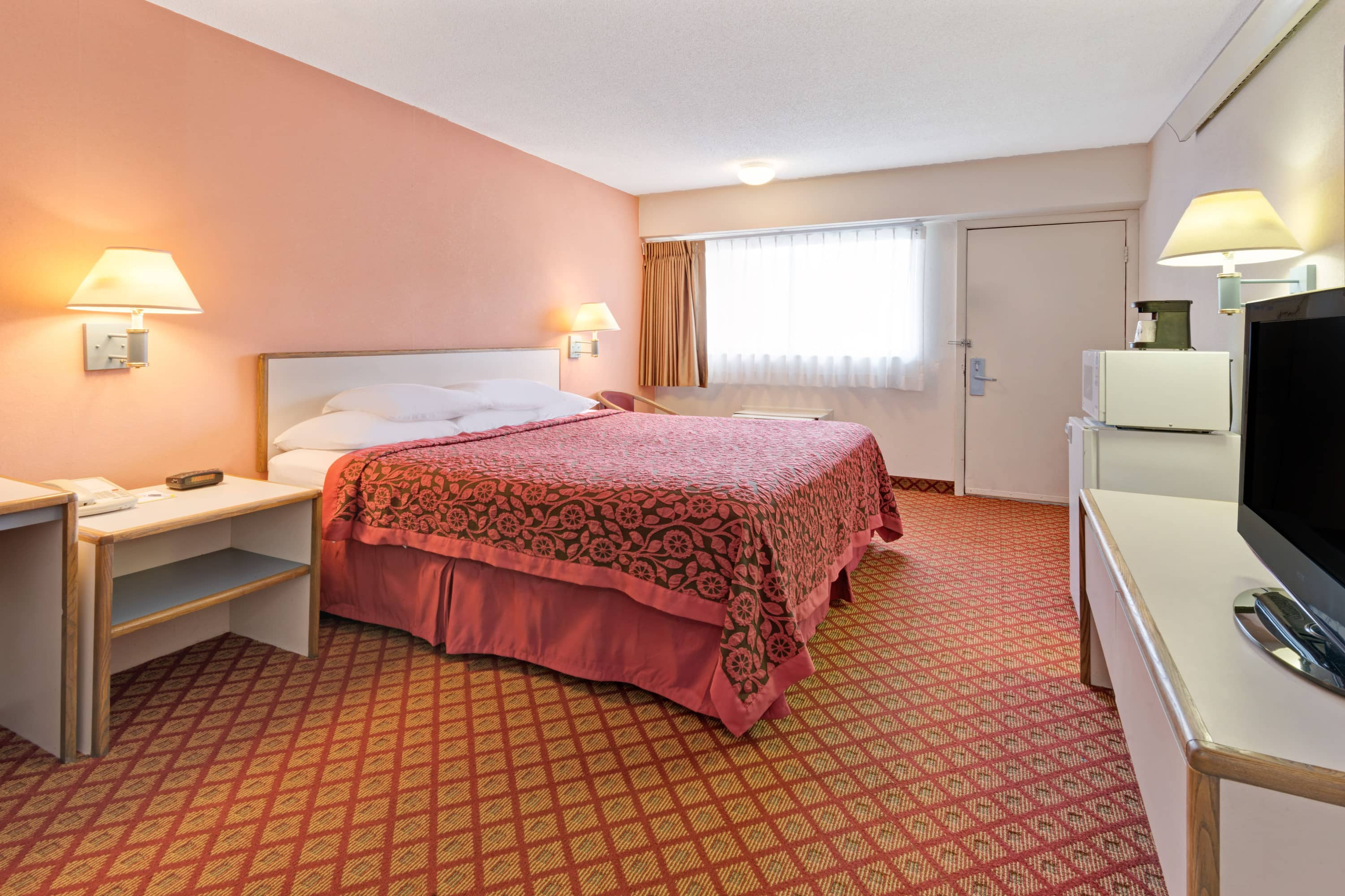 Guest room at the Days Inn Overland Park in Overland Park, Kansas