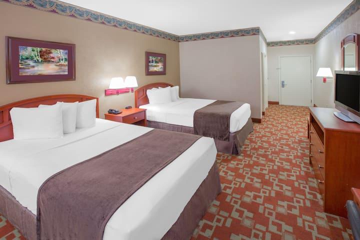 Guest room at the Days Inn Denham Springs-Baton Rouge East in Denham Springs, Louisiana