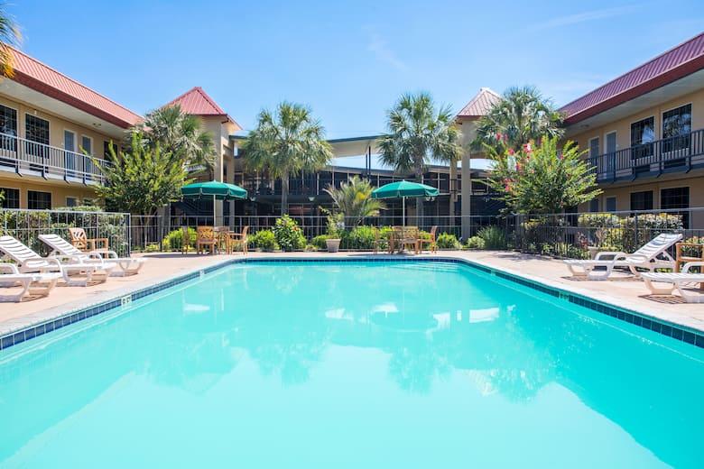 Pool At The Days Inn Leesville In Louisiana