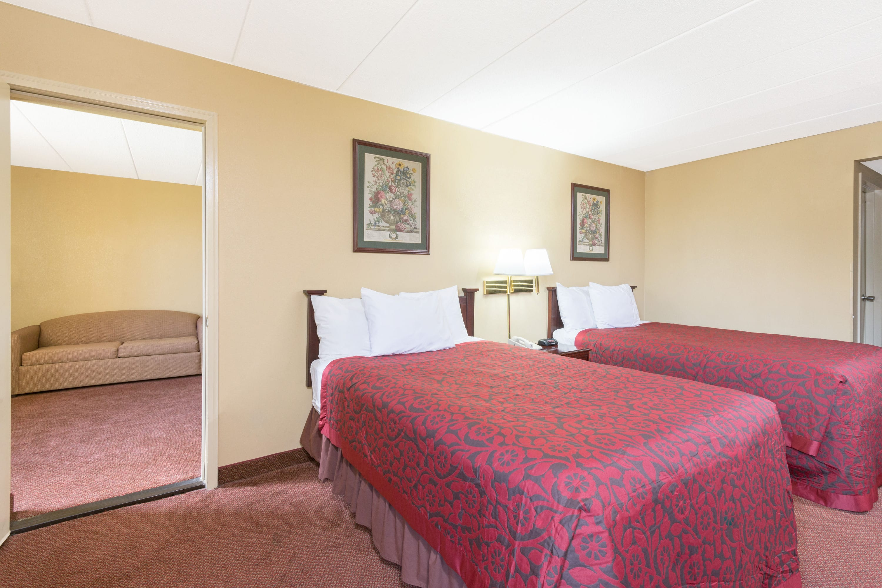 Guest room at the Days Inn Hagerstown in Hagerstown, Maryland