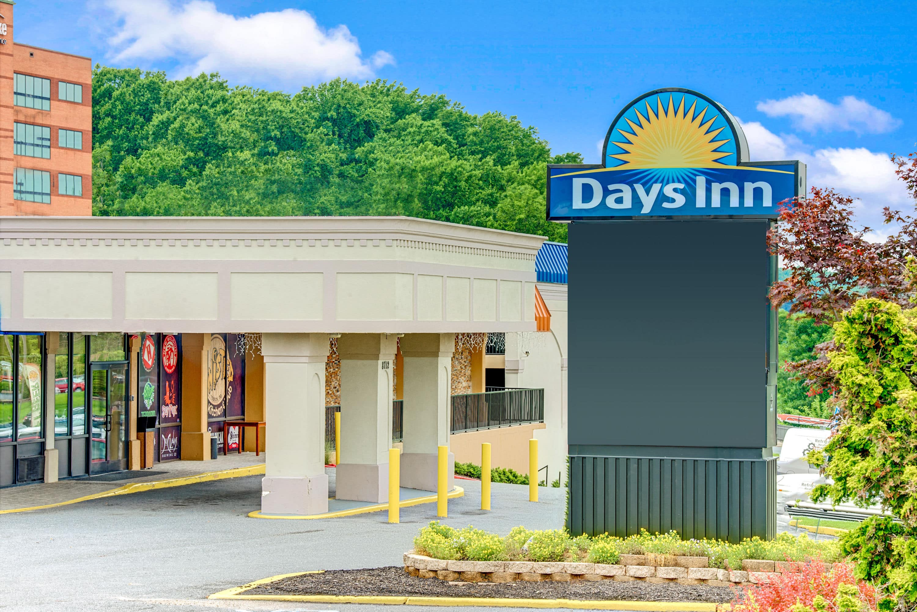 Exterior Of Days Inn Towson Hotel In Maryland With Hotels Near Loyola University