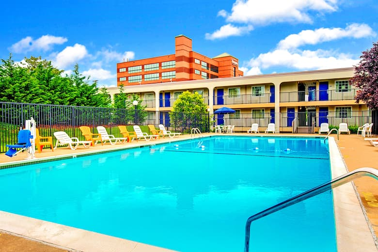 Pool At The Days Inn Towson In Maryland