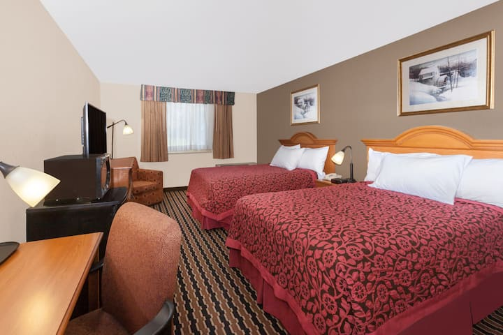Guest room at the Days Inn Albion in Albion, Michigan