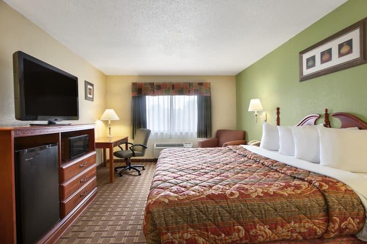Guest room at the Days Inn & Suites Benton Harbor MI in Benton Harbor, Michigan