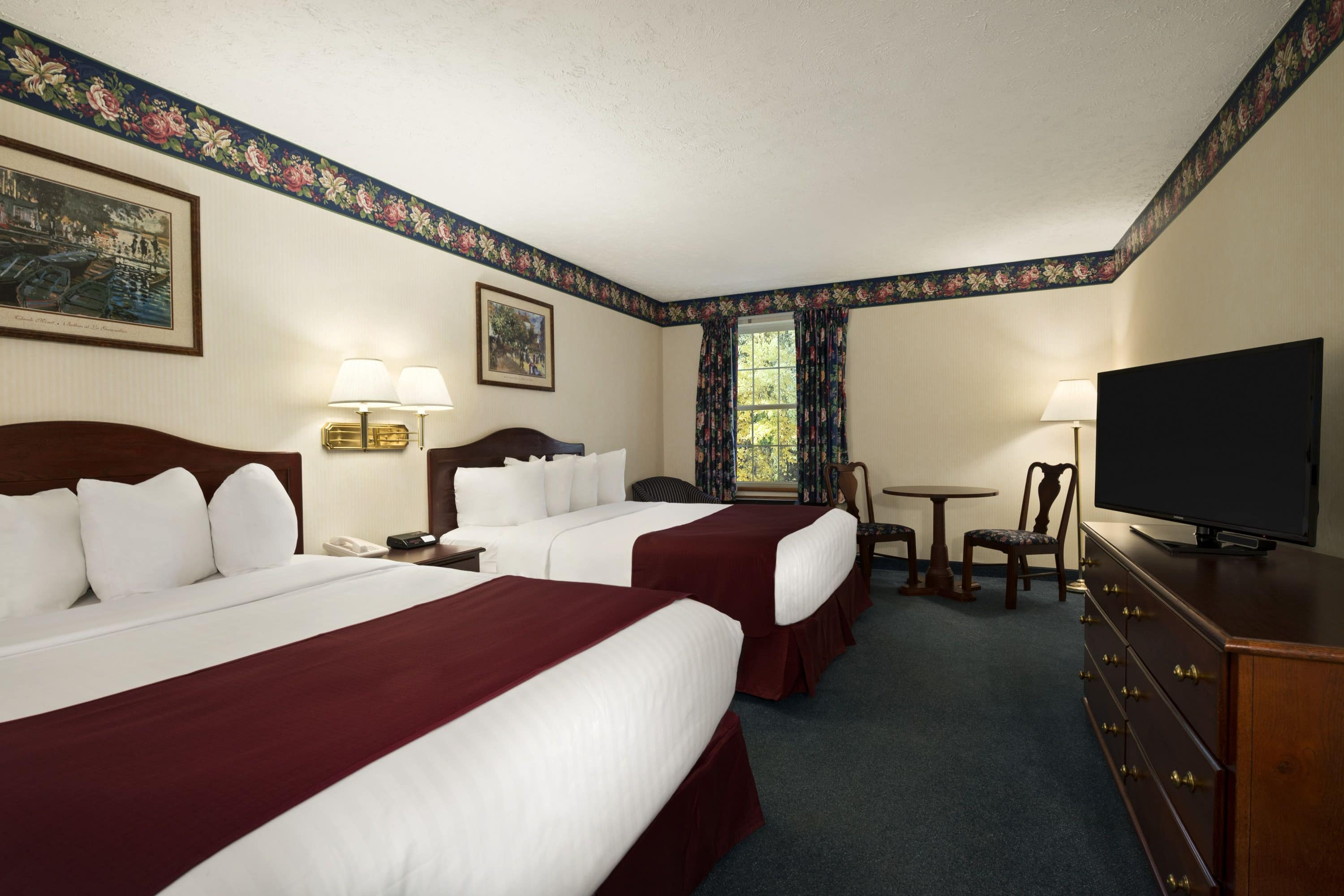 Guest room at the Days Inn Grayling in Grayling, Michigan
