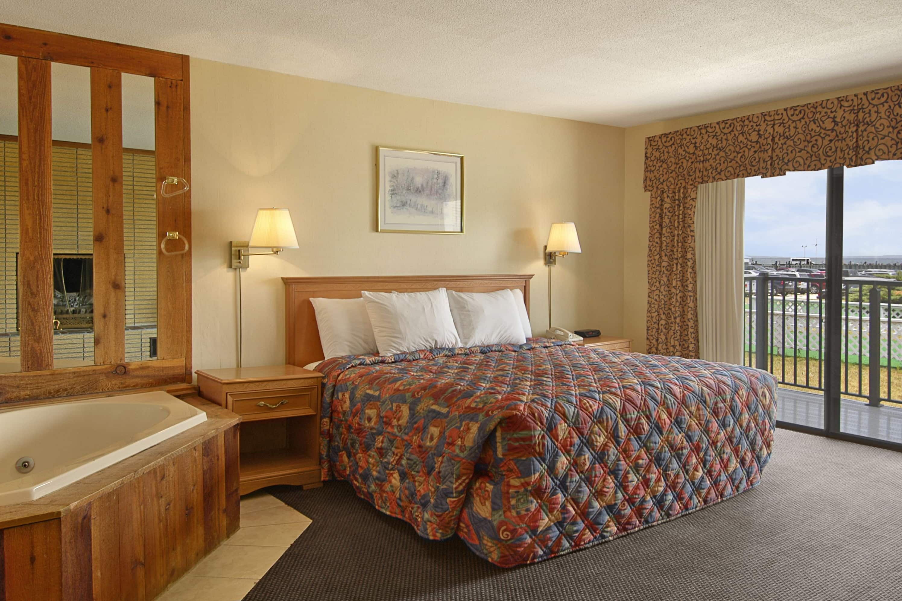 Guest room at the Days Inn Mackinaw City - Lakeview in Mackinaw City, Michigan