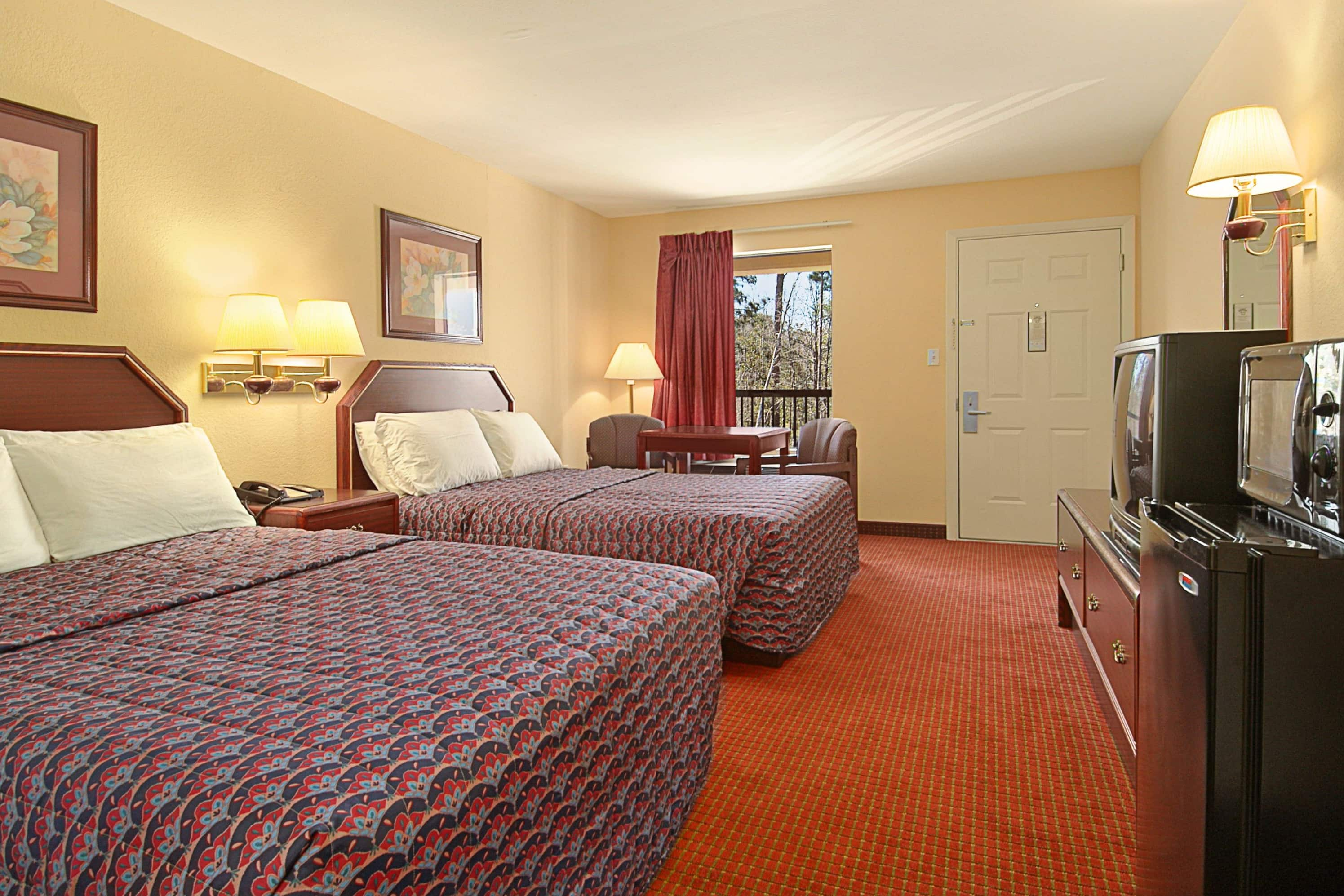 Guest room at the Days Inn Ocean Springs in Ocean Springs, Mississippi