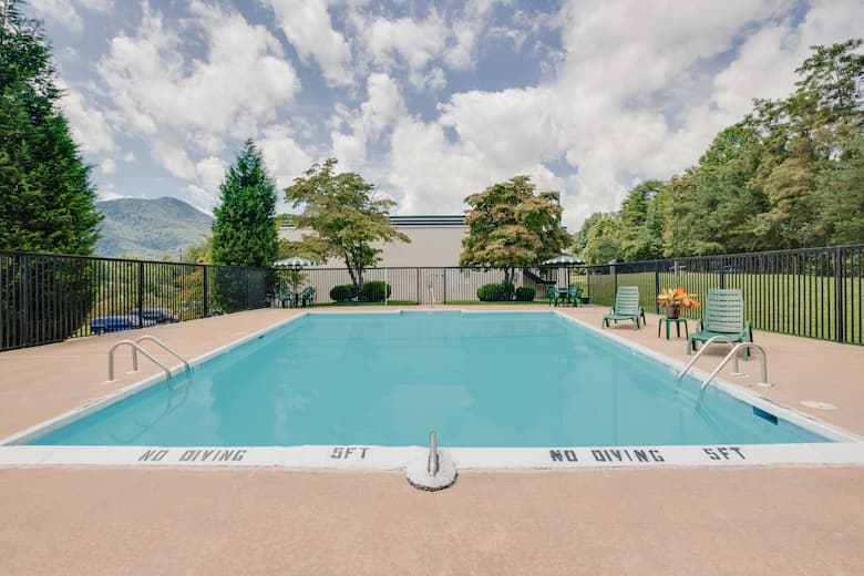 Pool At The Days Inn Asheville West In Candler North Carolina