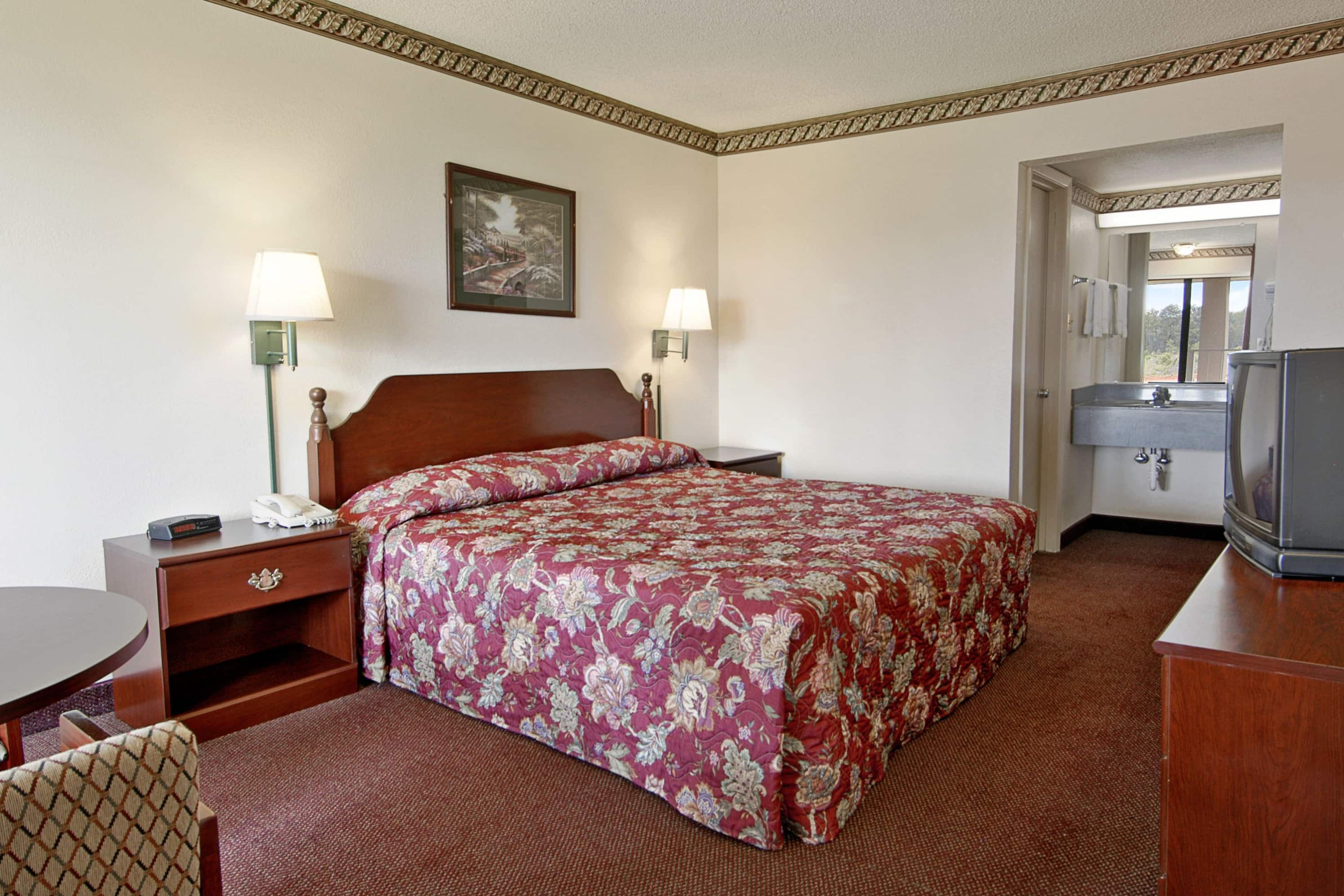 Guest room at the Days Inn Concord in Concord, North Carolina