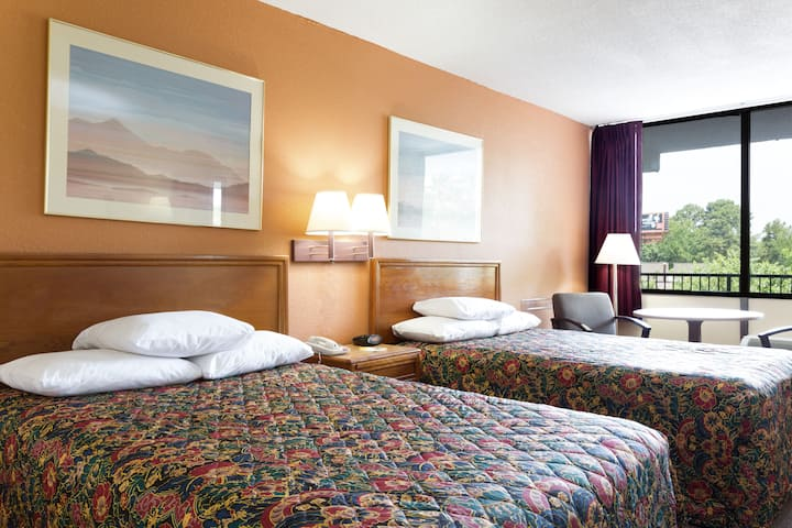 Guest room at the Days Inn Raleigh South in Raleigh, North Carolina