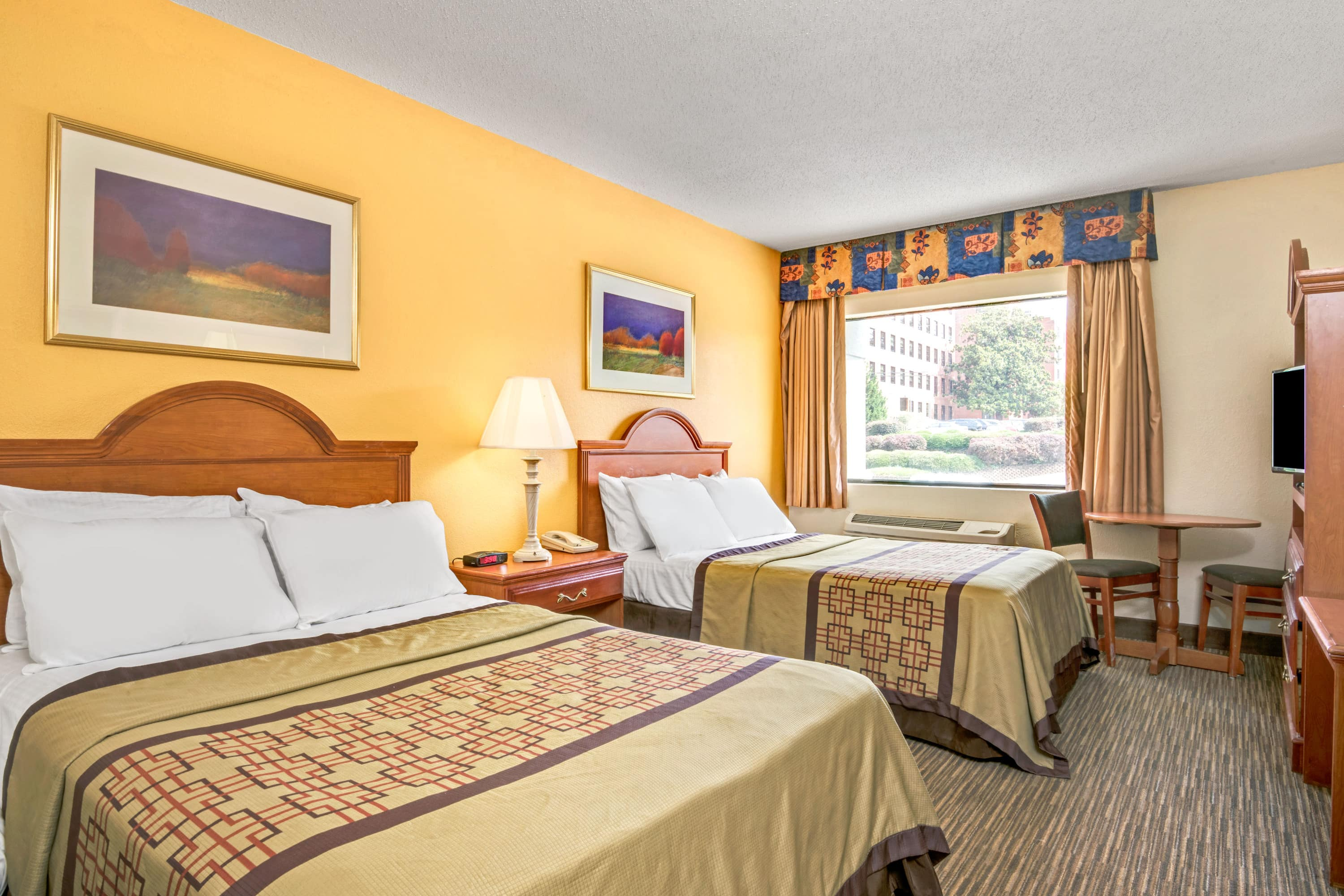 Guest room at the Days Inn Raleigh Downtown in Raleigh, North Carolina