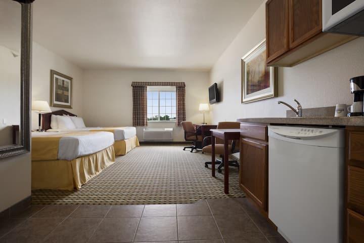 Guest room at the Days Inn & Suites Columbus NE in Columbus, Nebraska